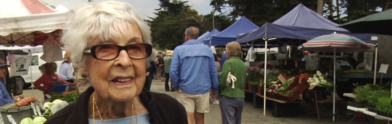 Where it all started: Virginia is a local celebrity at the farmers' market.